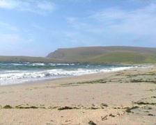 Quendale Beach Shetland Islands Scotland Stock Footage