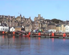 Lerwick waterfront Shetland Islands Scotland Stock Footage
