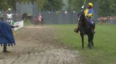 saracen joust cernobbio tavernola knight 01 e - stock footage