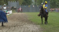 Stock Video Footage of saracen joust cernobbio tavernola knight 01 e
