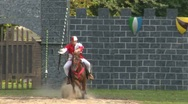 Stock Video Footage of saracen joust tavernola camerlata 03 e