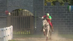saracen joust tavernola camerlata 04 e - stock footage