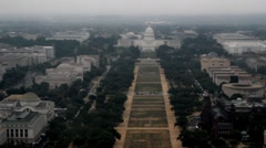 Stock Footage -  Aerial View US Capitol - National Mall Stock Footage
