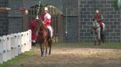 saracen joust tavernola camerlata knight 01 e - stock footage