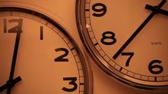 Clocks Time Lapse - stock footage