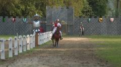 saracen joust tavernola camerlata knight 02 e - stock footage