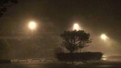 Hurricane Wind and Rain Lash City Stock Footage