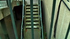 Vertigo Dizzy Disorientating Staircase On Urban Housing Estate London - stock footage
