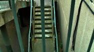 Vertigo Dizzy Disorientating Staircase On Urban Housing Estate London Stock Footage