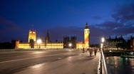 Stock Video Footage of Panning Big Ben Timelapse