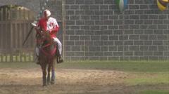 saracen joust tavernola camerlata knight 04 e - stock footage