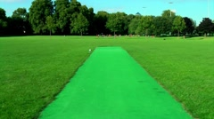Point of View Walking Pov Green Path Sports Field Stock Footage