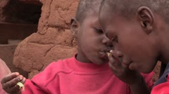 Kenya: Children Eat Ugali - stock footage