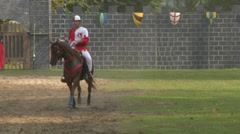 saracen joust tavernola camerlata knight 05 e - stock footage