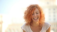 Young Adult Woman Smiles Stock Footage