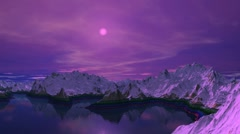 Mountain lake. A moonlight night. - stock footage