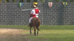 saracen joust tavernola camerlata knight 06 e - stock footage