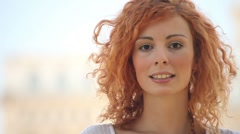 Excited Attractive Young Lady - stock footage
