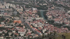 View of Mostar - stock footage