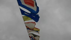 Flags swing on the wind Stock Footage