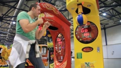 Boxing arcade machines Stock Footage