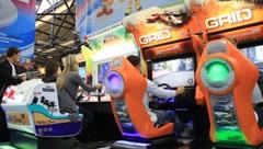 Playing simulators Stock Footage