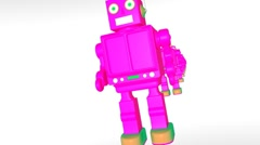 Robot Row (HD+Loop+Alpha) - stock footage