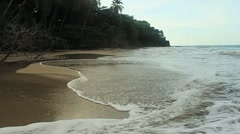 Costa Rica - Deserted Beach - stock footage