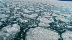 Melted Glacial Ice in Moving Water Stock Footage