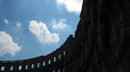 Stock Video Footage of pula gladiator arena timelapse 03