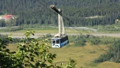 Stock Video Footage of Peaceful Tram Ride in Alaska (HD) c