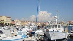 Stock Video Footage of port of  Rovinj, Croatia