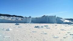 Arctic Glacier and Frozen Sea - stock footage