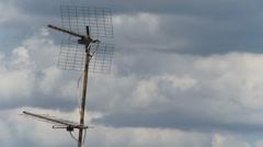 TV Antennas 5 - stock footage