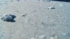 Frozen arctic sea Stock Footage