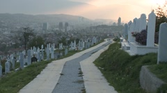 Path between tombs 2 Stock Footage