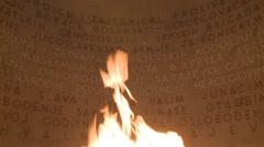 Zahvalno Sarajevo (eternal flame) 4 Stock Footage