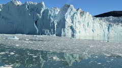 Melting Sea Ice & Glacier in the Arctic - stock footage