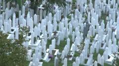 Graveyard. Sarajevo 16 Stock Footage