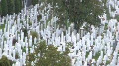 Graveyard. Sarajevo 17 Stock Footage