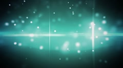 particles and optical flares blue - stock footage