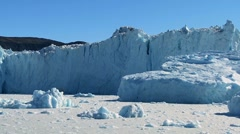 Stock Video Footage of Majestic Ice Glacier in the Arctic