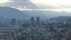 Sarajevo view 9 Stock Footage
