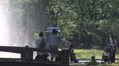 Yoyogi Park 3 - Natality Rate. Romance, Leisure, relax. Tokyo, Japan. Stock Footage