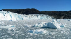 Effects of Climate Change on a Glacier - stock footage