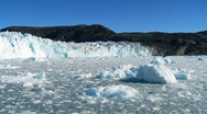 Stock Video Footage of Effects of Climate Change on a Glacier