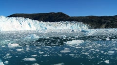 Ice Glacier on a Sea of Frozen Ice - stock footage