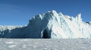 Stock Video Footage of Ice Cliffs Formed by a Glacier