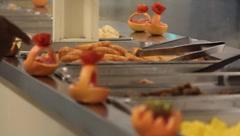 Serving Food(HD)C Stock Footage