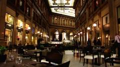 Italy Rome Galleria Alberto Sordi shopping mall Stock Footage